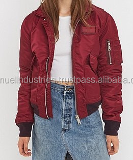 ec249030c Australian Girls Bomber Jackets With Embroidery Logo\satin Shiny Ma1 Detail  Padded Red Bomber Jacket\suede Bomber Jackets - Buy Girls Shiny Down ...