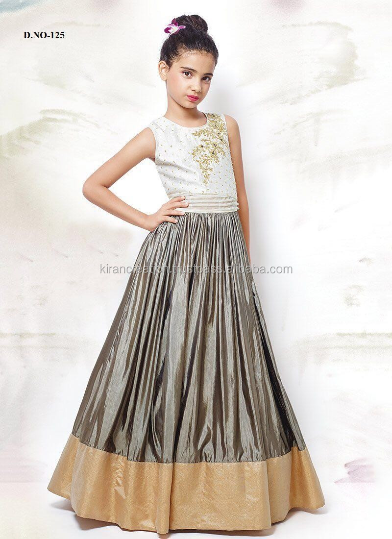 7dda49e97 Kids Gown Style Frocks Wedding Collection Of Girls Salwars - Buy ...