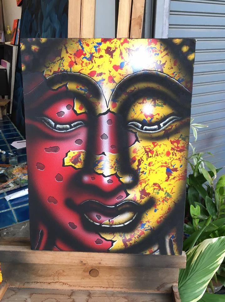 mur art chanceux signe dans la religion bouddha peinture lhuile et acrylique or bas relief peinture sur toile et bois de pin encadre - Nettoyer Une Peinture A L Huile Encrassee
