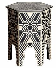 BONE MOP INLAY END TABLE / SIDE TABLE / CORNER TABLE