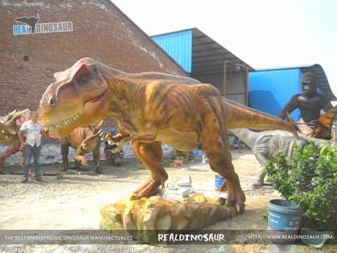 2015 hot sale amusement park life size dinosaur sculptures