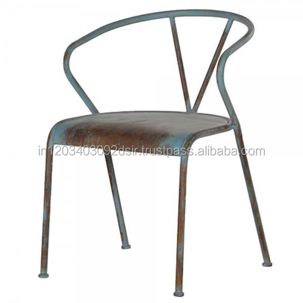Blue Metal Dining Chairs metal dining chair - pueblosinfronteras