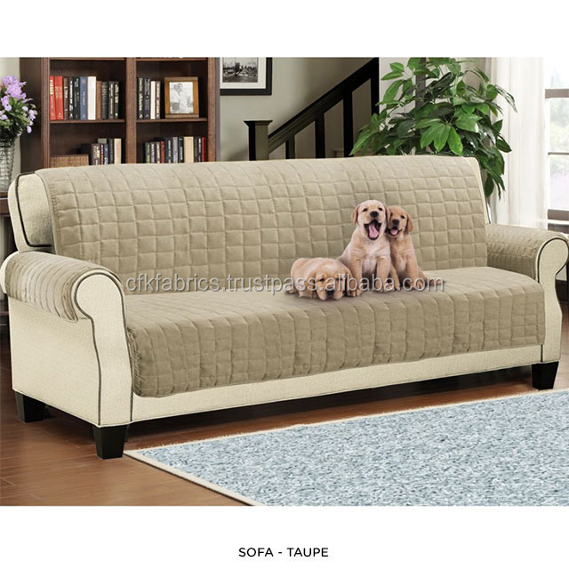 1,2,3 Seater Quilted Sofa Cover Throw Pet Furniture Protector - 1,2,3 Seater Quilted Sofa Cover Throw Pet Furniture Protector