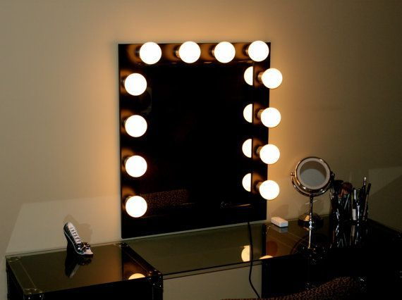 Spiegel Met Lampen : Hoge kwaliteit hollywood make up spiegel met koel wit dimbare led
