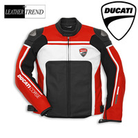 Men's Ducati Corse2015 Leather Motorbike Racing Jacket,Perforated Or Non All Sizes & Colors