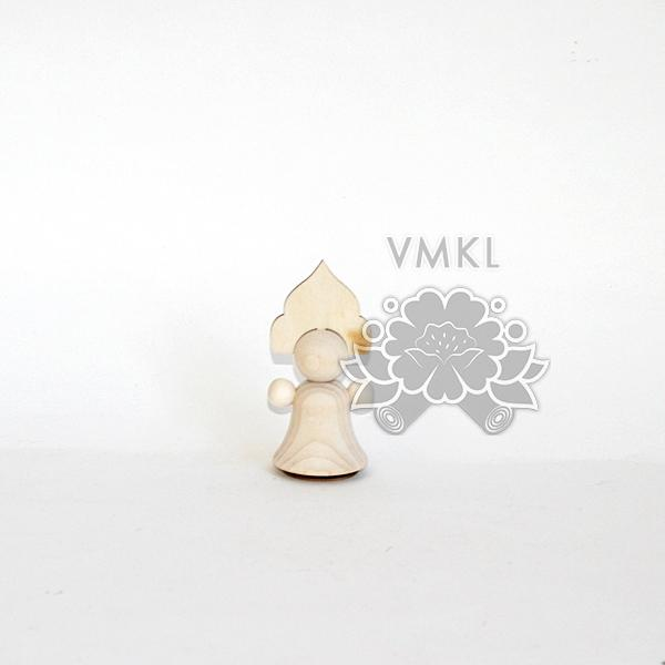 Unpainted doll in Russian folk dress, Small Blank wooden doll with triangle kokoshnik, DIY toy for artists and shops, TW02L1
