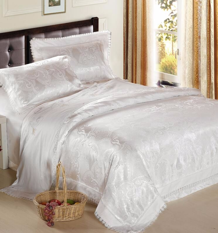 European Hotel 100% Cotton Sateen Jacquard Luxury Four-piece Bed Sets