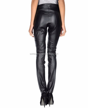 Women in tight leather pants splicing PU leather wholesale cheap women sexy leather  pants ef325e0dd1