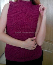 Top modern design red color recently made young people choice Chunky vest, knitted vest. Any colour you want.fancy and cheap .