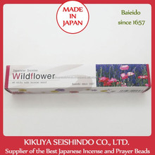 Wildflower, Japanese Incense, Baieido, Imagine Series, 40 sticks with stand, scents air freshener