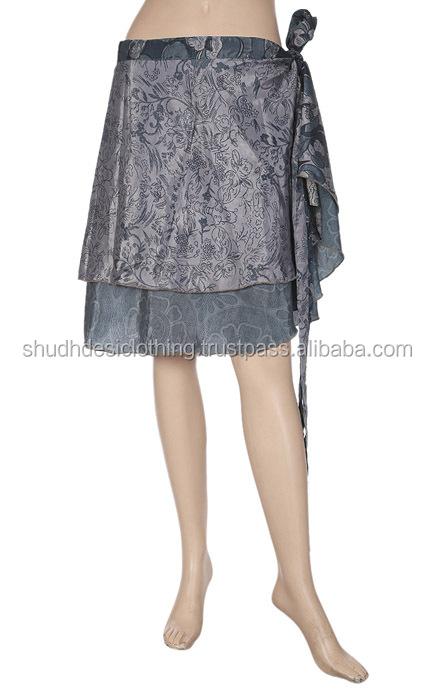 b0de85fc90cd6 Indian Women's Designer Beach Silk Sarong Pareos Mini Silk Womens Rapron  Skirts