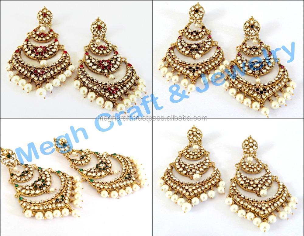 5f954b526 India Traditional Jadau Earrings, India Traditional Jadau Earrings  Manufacturers and Suppliers on Alibaba.com