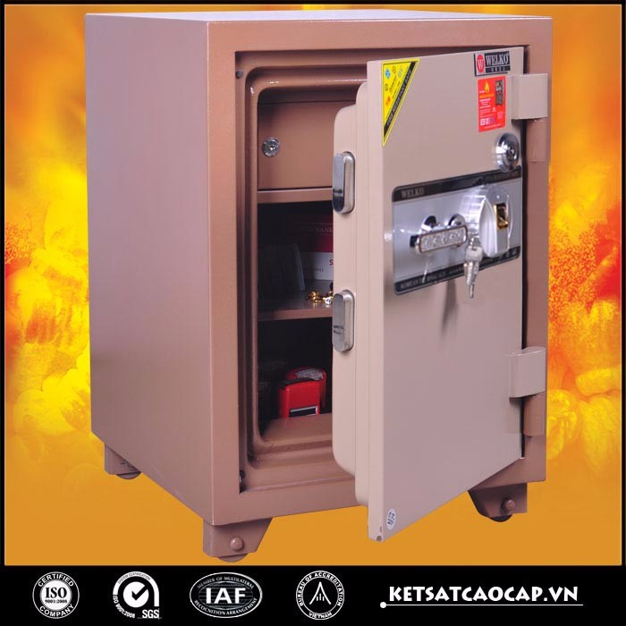 durable biometric fingerprint fireproof safe for home - KS 125 F