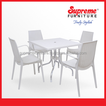 Plastic Dinning Furniture For Cafes Restaurant And Outdoor Sitting Garden Sets