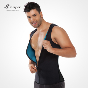 S-SHAPER Men`s Ultra Sweat Vest Reversible Sports Sweat Workout Vest Belly Control For Men Gym Sweat Enhancing Waistband