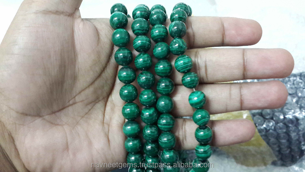 Natural 6mm to 14mmm malachite beads