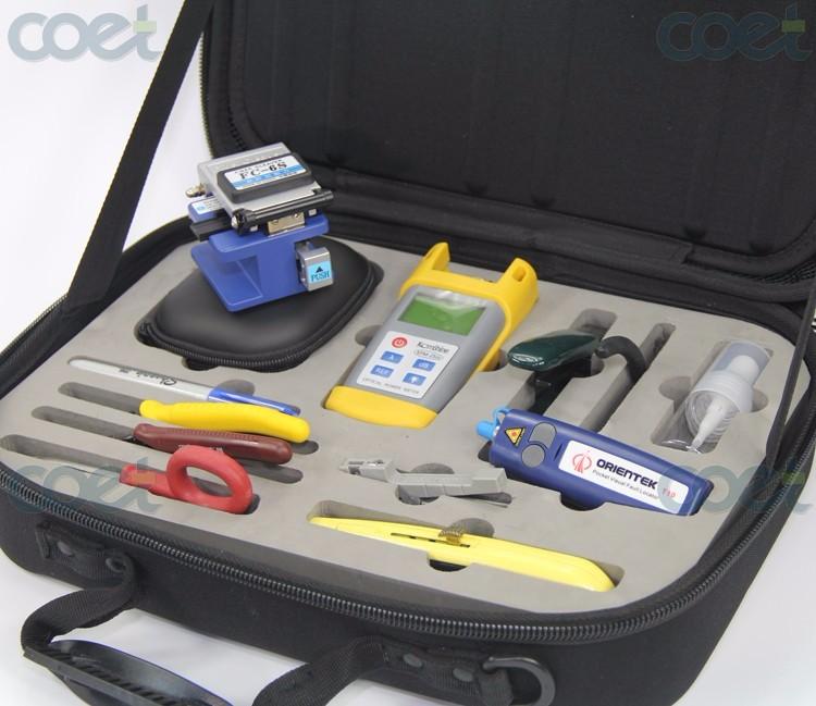Orientek TFH-13 Fiber Optic Basic Fiber Optic Tool Kit Includes FC-6S Optical Fiber Cleaver