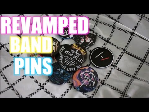 Revamped Diy band pins and custom pins