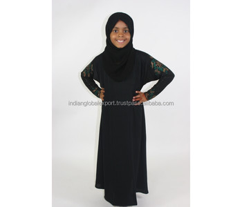 Islamic Clothing Wholesale Kids Abaya Cotton AbayaMuslim For Kids Muslim Prayer Muslim Dress