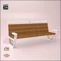 Modern Long Wood Slats and Cast Aluminum Leisure Outdoor Bench for Garden Park Hotel