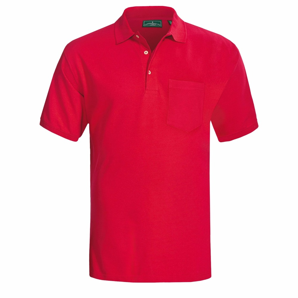 Advertising screen print polo t shirt for men