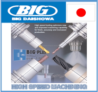 Ultra slim designed and High speed cutting hammer drill BIG DAISHOWA Chuck with drills and endmills made in Japan
