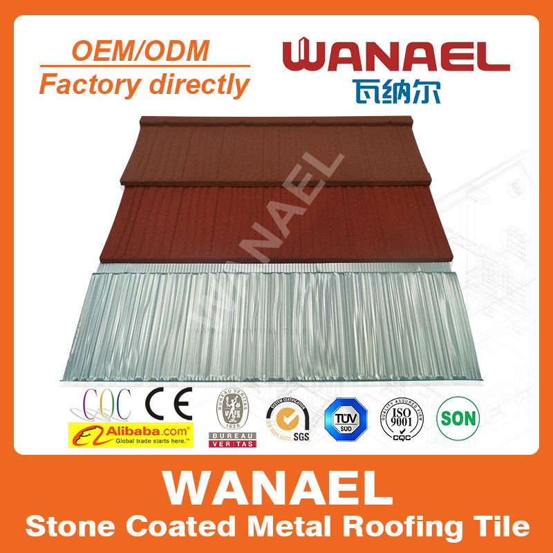 Economic Anti UV High Quality Stone Coated Steel Roof Tile/roof Edge  Protection