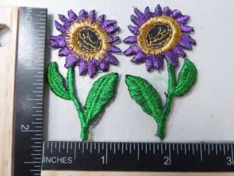 sunflower patches embroidered iron on patches WholesaleSarong.com