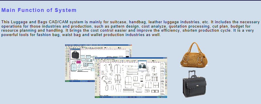 Fashion Luggage & Bags CAD Software in Richpeace