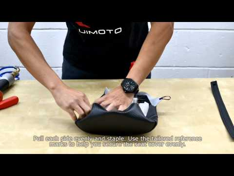 Passenger Motorcycle Seat Cover Install Demonstration by Luimoto