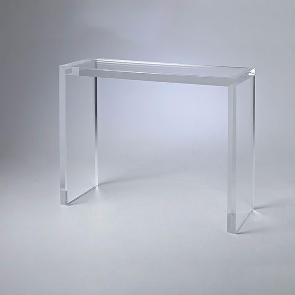 Superb Modern Glass Top Dining Table Custom Acrylic Console Table Dailytribune Chair Design For Home Dailytribuneorg