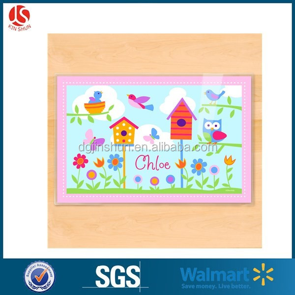 Kids Adhesive Four Sticky Sides Kids Disposable Placemats