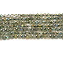 A Grade Blue Fire Labradorite 3-5 mm Smooth Round Loose Beads For Wholesale