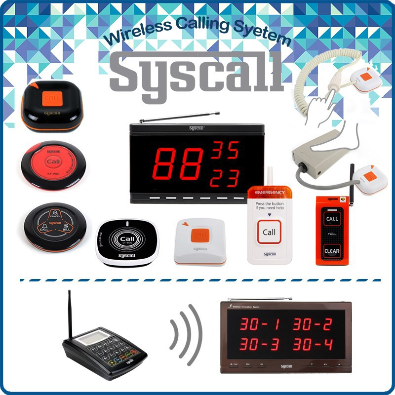 Wireless restaurant table call buzzer Syscall wireless call button