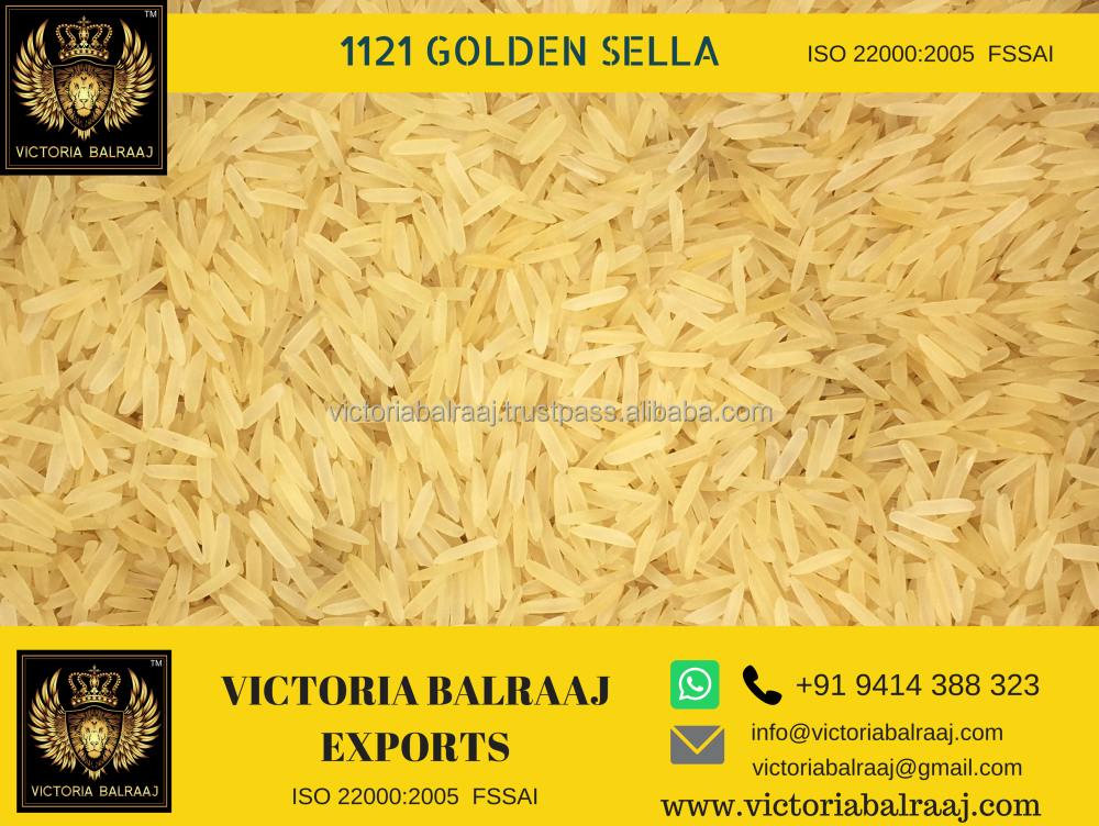 1121 Golden Sella Parboiled Basmati Rice