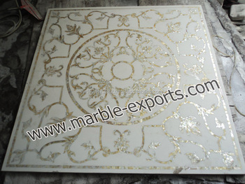 White Square Mother Of Pearl Marble Inlay Table Top Italian Pietre Dure Quartz Stone Product On Alibaba