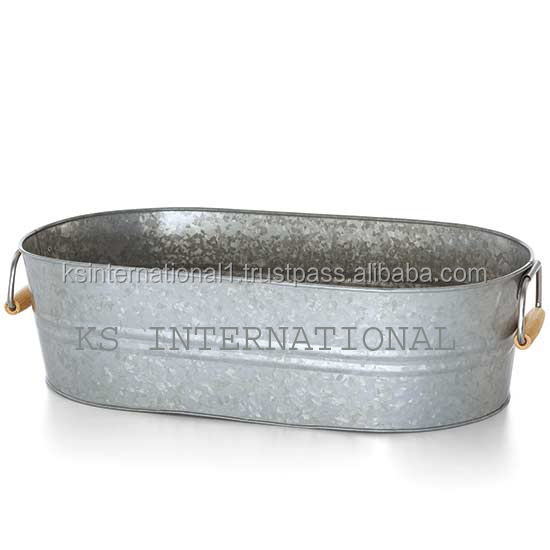 Metal Antique Oval Party Tub