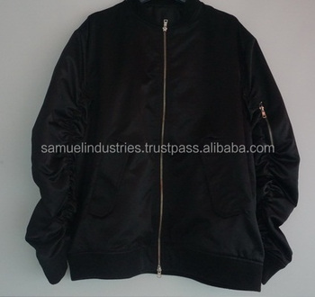 2c5629123 Wholesale Black Nylon-bomber-jackets-for-men, ew Item Customize Black Satin  Bomber Jackets With Silver Zippers - Buy Mens Soft Shell Winter Super Warm  ...