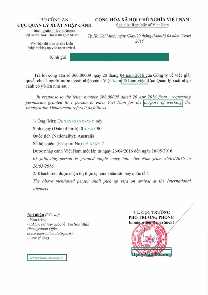 Einladung Brief Für Vietnam Business-visum,Vietnam Business ...