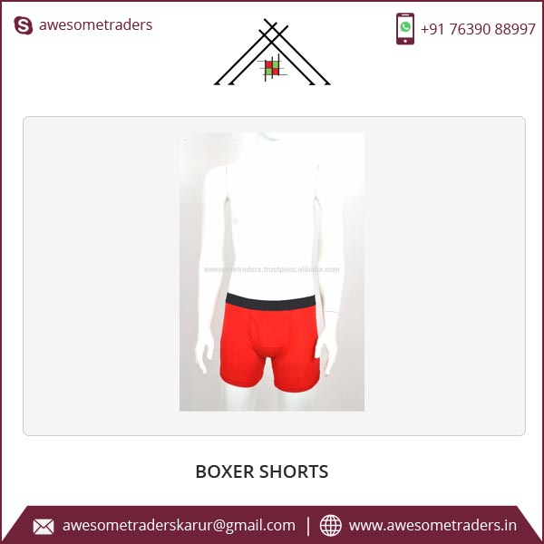 Customized Boxer briefs Wholesale Mens Boxer Shorts Low MOQ made in India