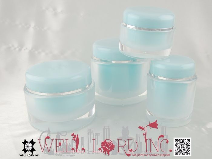 Big capacity screw on cap hot stamping 150ml personal care jar