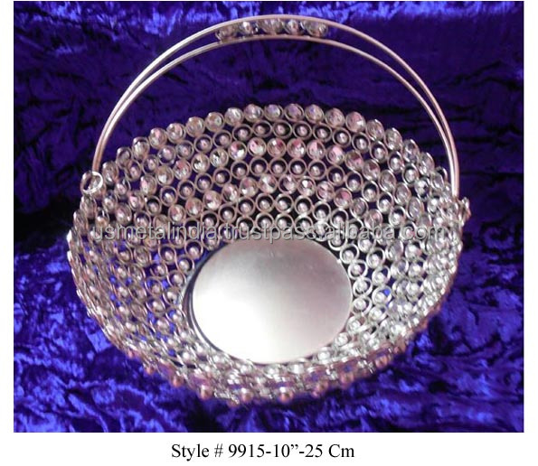 Iron Crystal Basket