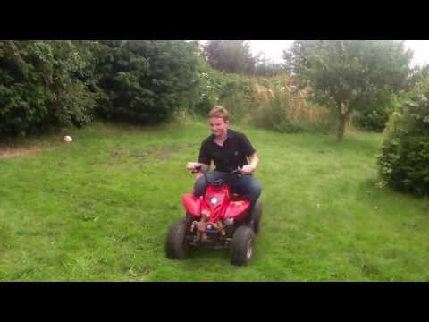 CHEAP CHINESE QUAD BIKE-2/11/13-ABUSE-90cc-BURNOUT-PIECE OF CRAP!