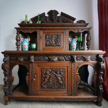 Antico Francese Intagliato A Mano In Legno Buffet Per Sala Da Pranzo ...