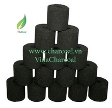 COCONUT SHELL IN CYLINDER SHAPE- BRIQUETTE CHARCOAL FOR BBQ GRILLING