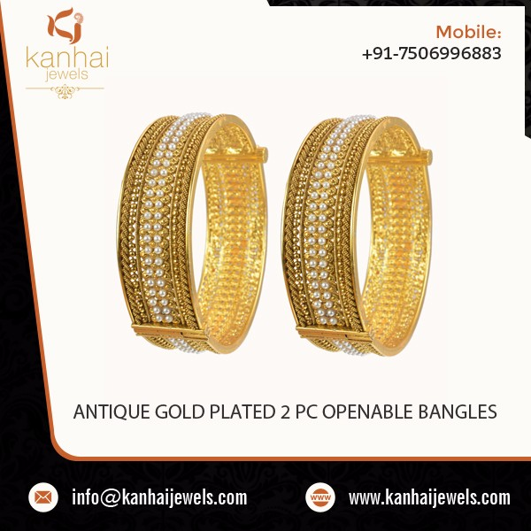 Latest Style Gold Design Bangles by a Leading Supplier Company - 10421