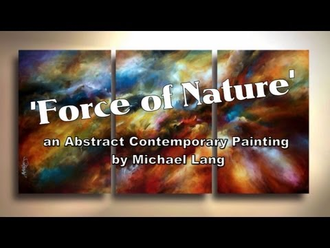 Painting 'Force of Nature' Modern Abstract contemporary art Mix Lang How to DEMO ...