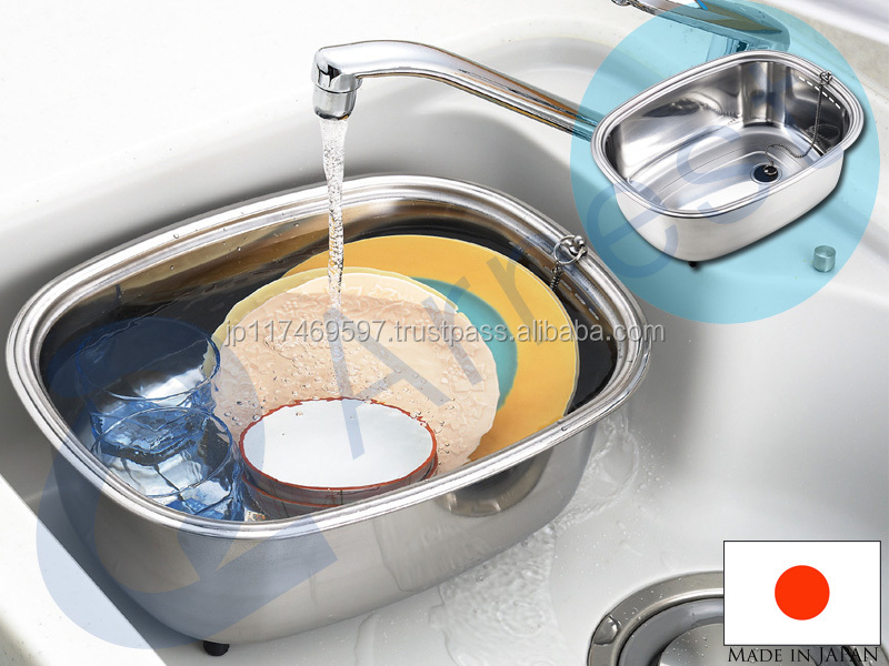 Kitchenware Tools Dishwasher Washing Stainless Japanese Utensils Sink  Bowles Tub Bucket Drinking Utensils Cooler Made In
