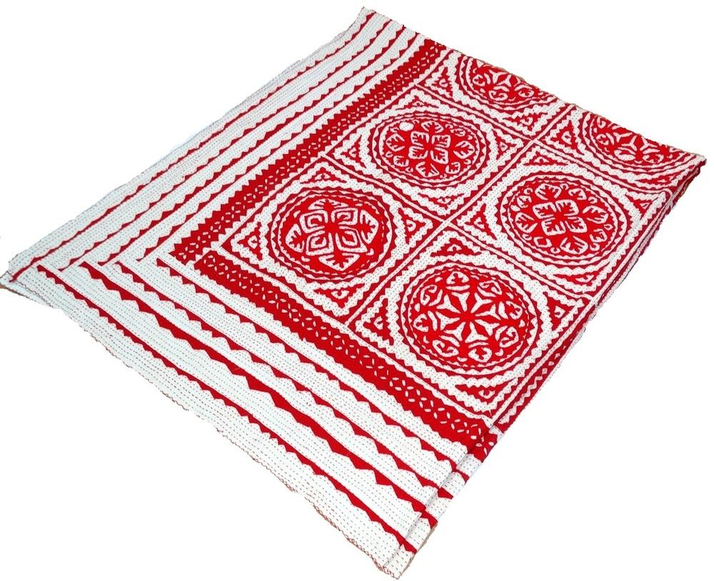 Indian Applique Kantha Quilt Patchwork Bedspread Cotton Handmade ...