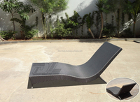 High Quality Outdoor Pool Bed Garden Sun Bed Patio Bed Rattan/Wicker/Cane Leisure Bed